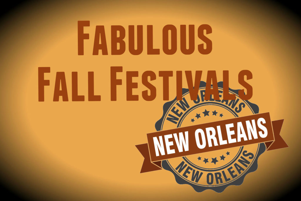 Fabulous Fall Festivals in New Orleans on Orange background
