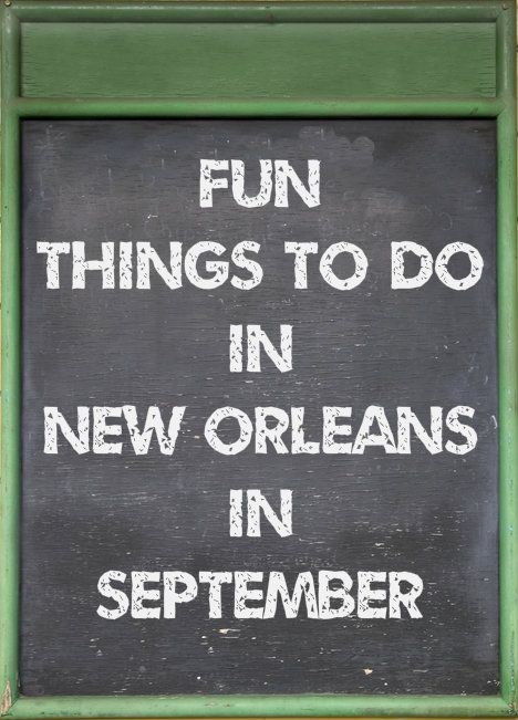 Green menu board with chalk writing - Fun Things to Do in New Orleans in September