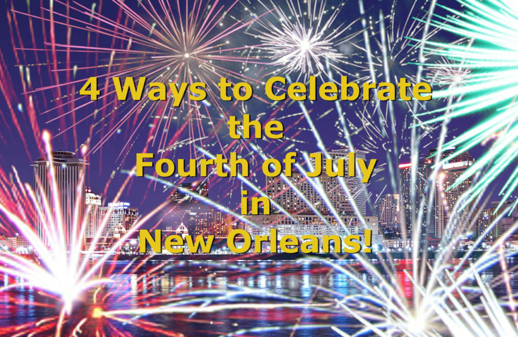 New Orleans Skyline with Fireworks